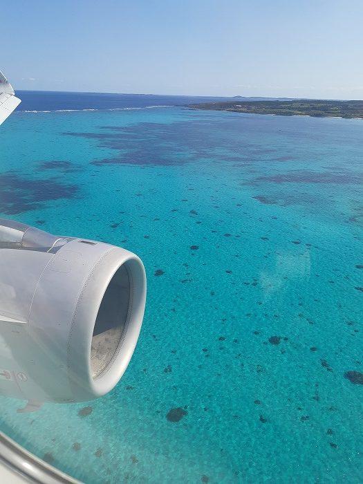 機内から撮影した宮古島下地島空港付近
