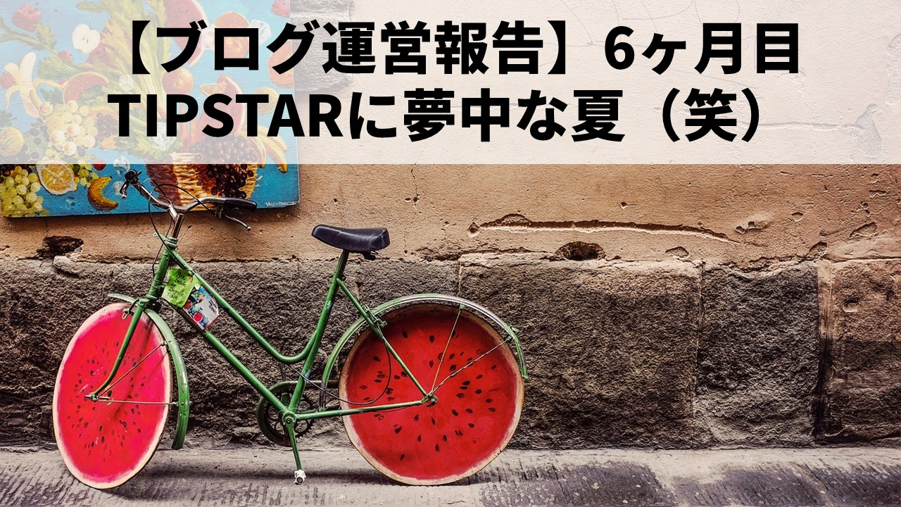 【ブログ運営報告】6ヶ月目【TIPSTARに夢中な夏】